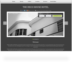 deco house freetobook sample website